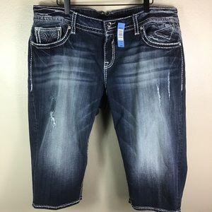 Vigoss Shorts - 🆕 ViGoss For Torrid Denim Capri Shorts
